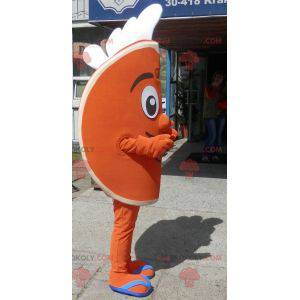 Oranžový čtvrt maskot. Citrusový maskot - Redbrokoly.com