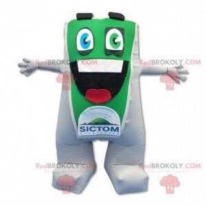 Maskotka duży zielony i biały człowiek - Redbrokoly.com