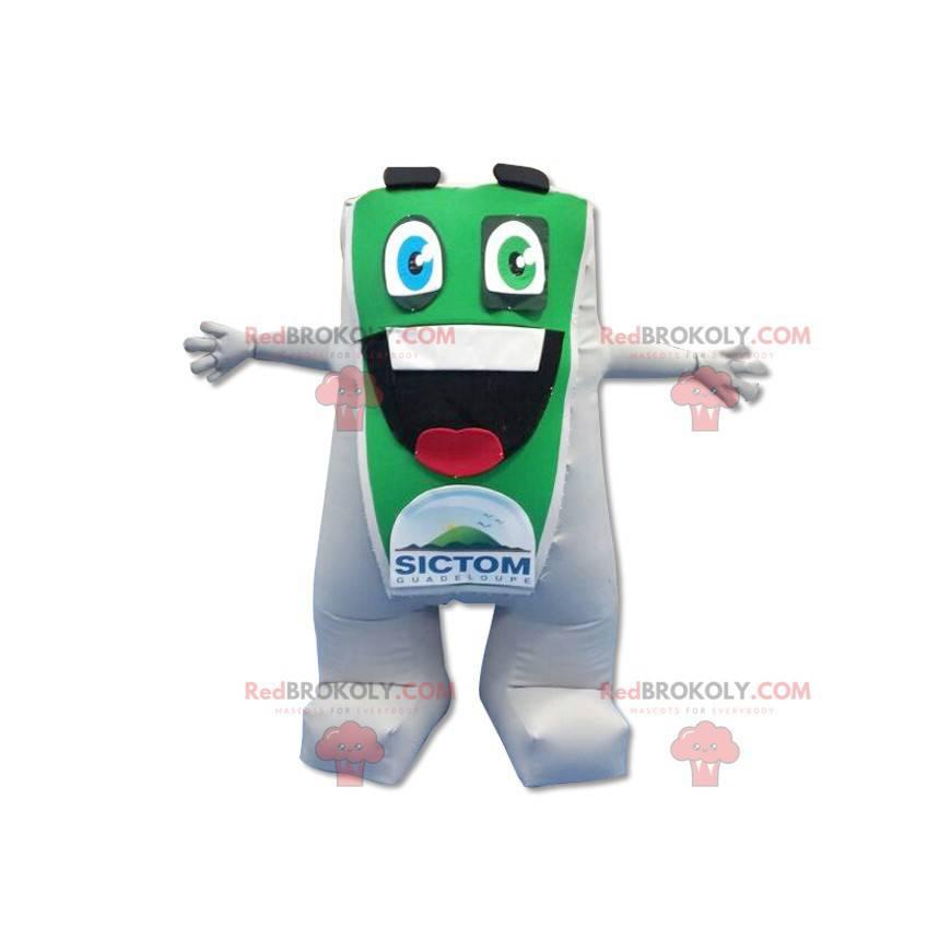 Großes Maskottchen des grünen und weißen Mannes - Redbrokoly.com