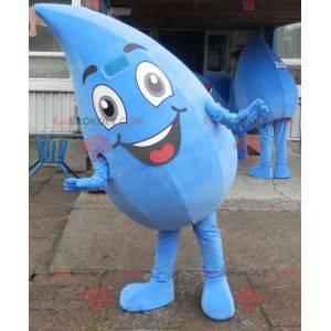 Obří a usměvavý kapka vody maskot. Drop oblek - Redbrokoly.com