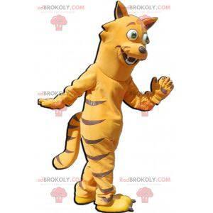 Oransje og brun kattemaskot. Feline maskot - Redbrokoly.com