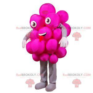 Maskottchen Bündel rosa Trauben. Festliches rosa Maskottchen -