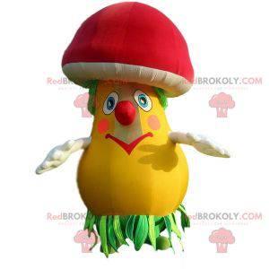 Colorful mushroom mascot. Inflatable mascot - Redbrokoly.com