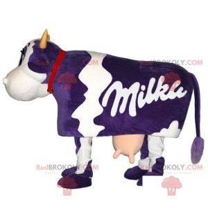 Maskot slavné bílé a fialové krávy Milky - Redbrokoly.com