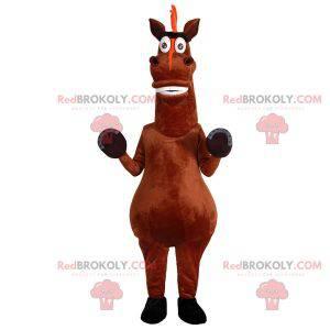 Very fun brown horse mascot. Horse costume - Redbrokoly.com