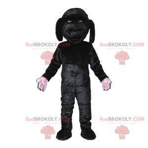 Sweet and cute black dog mascot. Dog costume - Redbrokoly.com