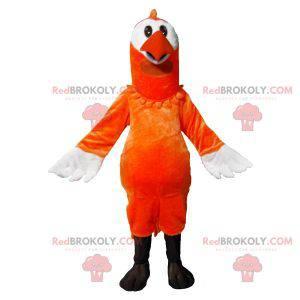 Oranžový a bílý pták maskot - Redbrokoly.com