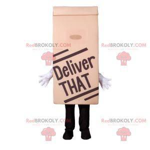 Mascot paper bag. Fast food mascot - Redbrokoly.com