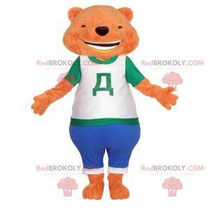Oranžový medvídek maskot. Oranžový medvěd maskot -