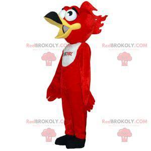Rød og hvit fuglemaskot. Grib maskot - Redbrokoly.com