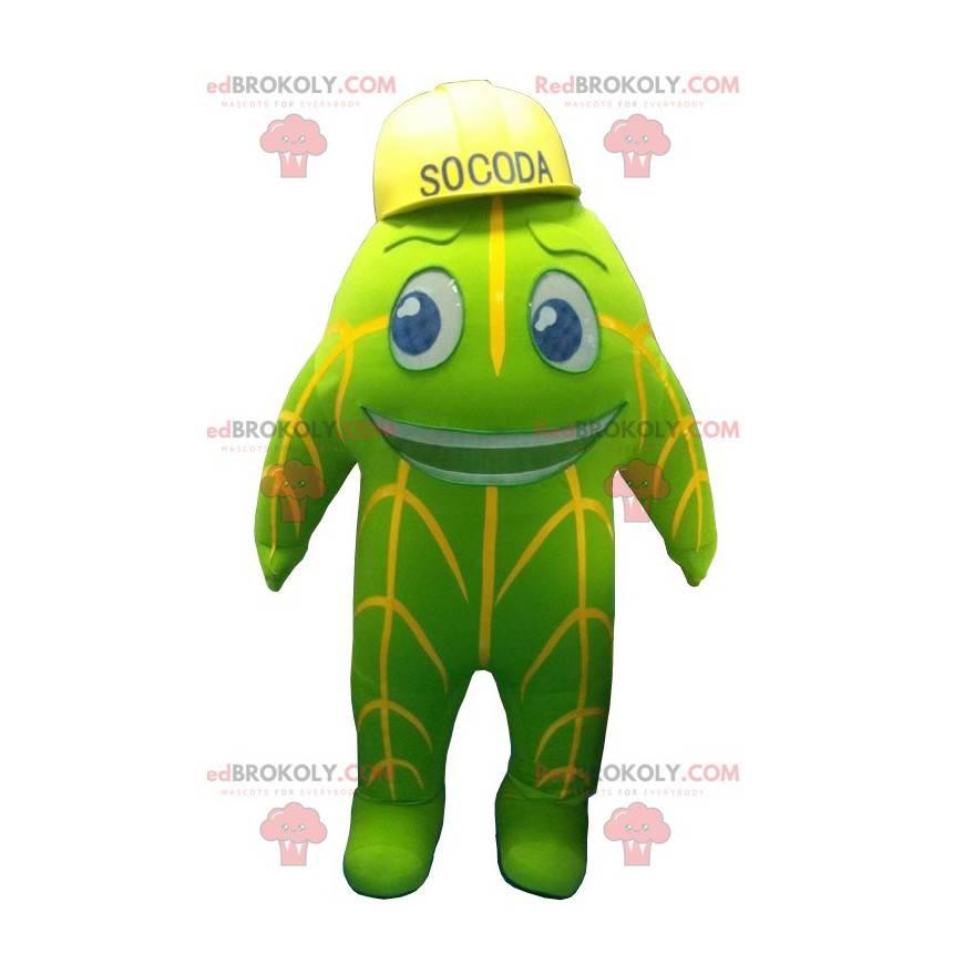 Socoda Maskottchen grünes und gelbes Maskottchen -