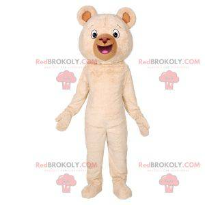 Soft and cute giant beige bear mascot - Redbrokoly.com