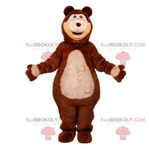 Riesiges Teddybär-Maskottchen in Braun und Beige -