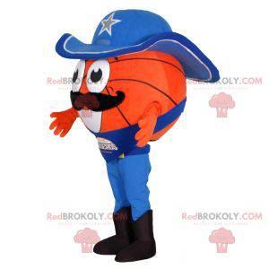 Maskot basketbalu oblečený jako kovboj - Redbrokoly.com