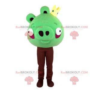 Angry Birds grønn maskot. Grønn gris maskot - Redbrokoly.com