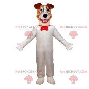 Maskott stor hvit og brun hund. Hundemaskot - Redbrokoly.com