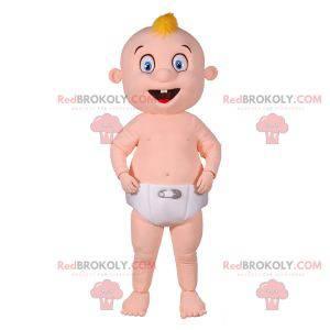 Mascote bebê gigante com uma fralda - Redbrokoly.com