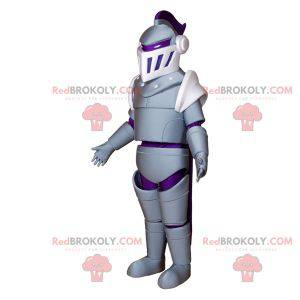 Mascot of the Middle Ages. Knight mascot with armor -