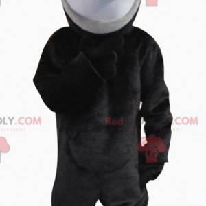 Maskot docela černá a šedá myš - Redbrokoly.com