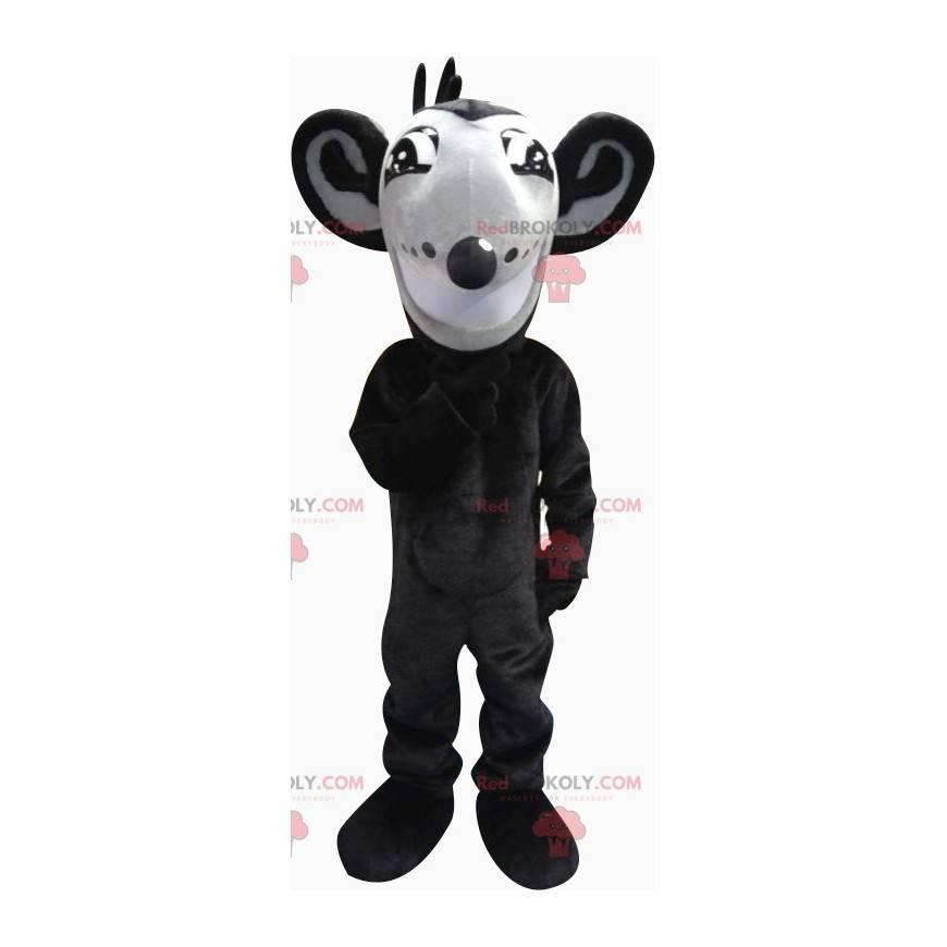Maskottchen hübsche schwarz-graue Maus - Redbrokoly.com