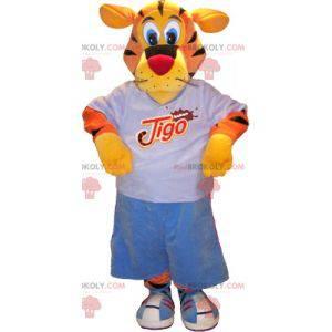 Basketbal tygr maskot. Sportovní tygří maskot - Redbrokoly.com