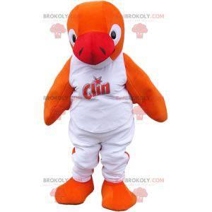Mascota de pescado naranja. Mascota de león marino de foca -