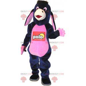 Donkey mascot blue and pink Jenny. Eeyore Costume -