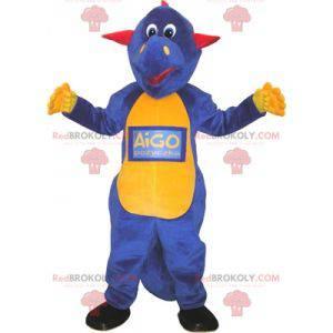 Red yellow and blue dragon dinosaur mascot - Redbrokoly.com