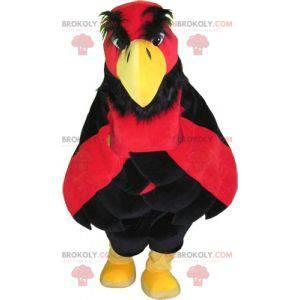 Rotes schwarzes und gelbes Vogelgeiermaskottchen. Riesenadler -