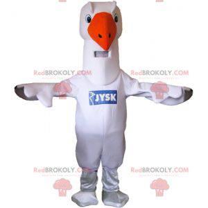 Obří bílá husa labuť maskot - Redbrokoly.com