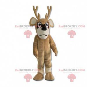 Mascote de veado rena de natal - Redbrokoly.com