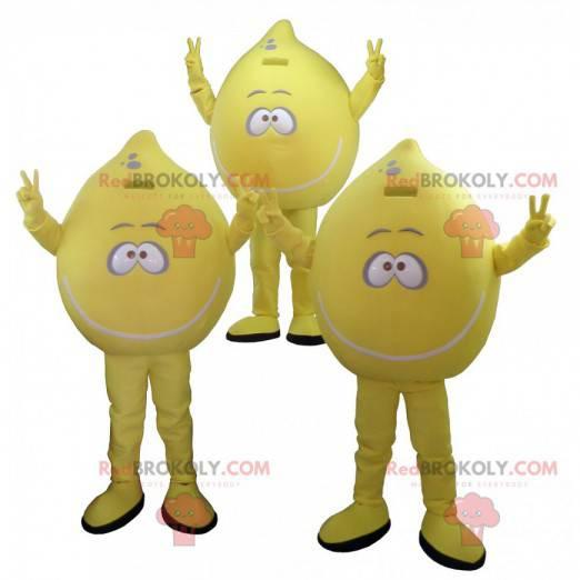 Spousta 3 maskotů žlutých citronů - Redbrokoly.com