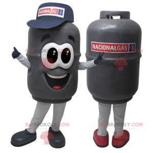 Velmi realistický maskot šedé plynové lahve - Redbrokoly.com