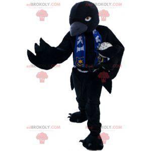 Maskottchen großer schwarzer Vogel, der heftig aussieht -