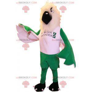 Fantastisches grünes und weißes Adlermaskottchen -