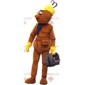 Bardzo ładna brązowa maskotka bałwanek z torbą - Redbrokoly.com