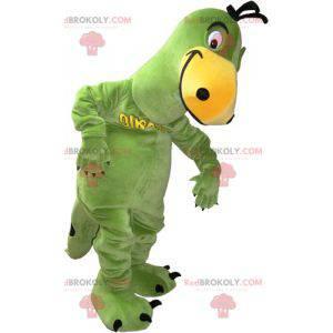 Zelený a žlutý dinosaurus maskot - Redbrokoly.com