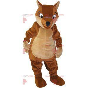 Maskot obří hnědé a béžové lišky - Redbrokoly.com
