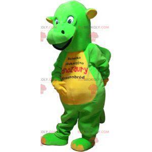 Maskot zeleného a žlutého dinosaura - Redbrokoly.com