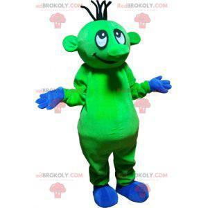 Auffälliges lustiges grünes außerirdisches Maskottchen -