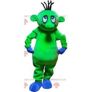 Báječný legrační zelený mimozemský maskot - Redbrokoly.com