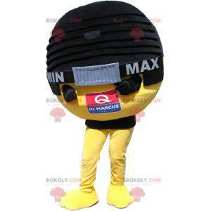Obří černý a žlutý mikrofon maskot - Redbrokoly.com