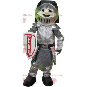 Rittermaskottchen in Rüstung mit Helm und Schild -