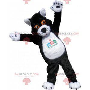 Velký maskot černé a bílé kočky. Kočičí kostým - Redbrokoly.com