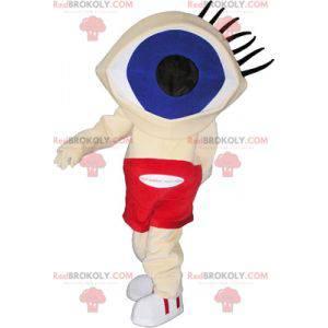 Funny snowman mascot with a huge eye head - Redbrokoly.com
