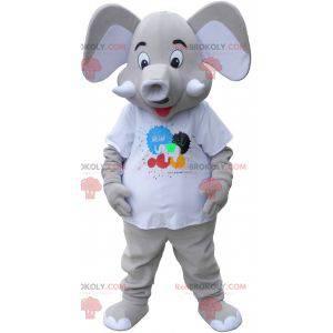 Big gray elepant mascot - Redbrokoly.com