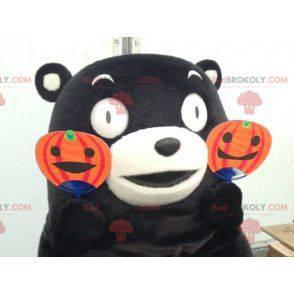 Černý a bílý medvěd maskot - Redbrokoly.com