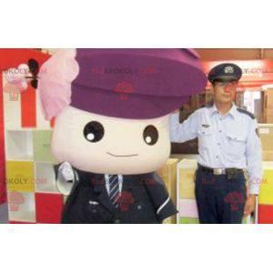 Hostitelka maskot dívka v obleku a kravatě - Redbrokoly.com