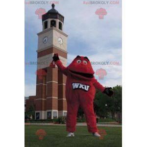 Červený maskot červené monstrum - Redbrokoly.com