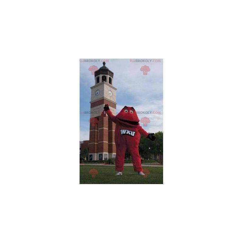 Czerwona maskotka mały czerwony potwór - Redbrokoly.com
